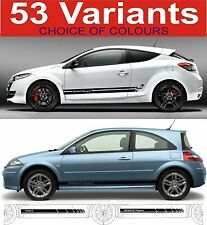 renault megane side stripe decals sticker 53 choices