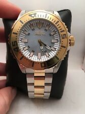 Mens Invicta 17694 Pro Diver MOP Dial Two Tone Steel Bracelet Watch-H77