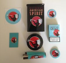 Natural American Spirit gift set BLACK - tin, pocket-ashtray, bookmark, lighter