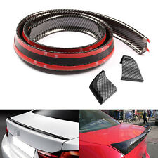 New Universal Carbon Fiber Rear Wing Lip Spoiler For Car Roof Trunk Sticker Tirm