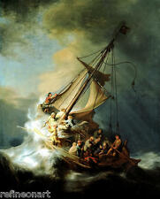 Rembrandt Storm on the Sea of Galilee Giclee Print on Canvas 16''x20''