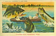 Frederic WI  A 1939 Big Fish Greetings from Frederic