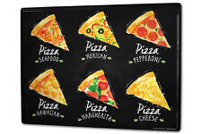 Tin Sign XXL Retro Pizza variations metal plate plaque