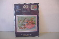 ~UNDER THE SEA~US POSTAGE STAMP KIT COLLECTION~DMC COUNTED CROSS STITCH KIT~