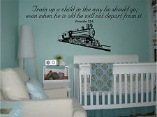 Train up a child in the way he should go Proverbs 22:6 CUSTOM childrens wall art