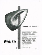 PUBLICITE ADVERTISING 064  1955  RONEO   synonyme de qualité agencement bureaux
