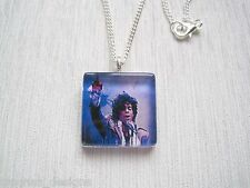 "PRINCE Purple Rain Glass Tile SP Chain Necklace 18"" RIP Tribute"