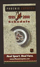 1999-00 Phoenix Coyotes Schedule--Pro Player