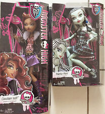 """MONSTER HIGH SET OF 2  FRIGHTFULLY TALL GHOULS 17"""" CLAWDEEN WOLF & FRANKIE STEIN"""