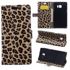 Leopard Print PU Leather Wallet Stand Flip Slots Cover Skin Case For LG