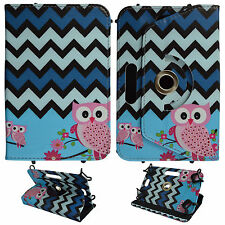 OWL CHEVRON UNIVERSAL FOLIO CASE KINDLE FIRE HD 6 INCH STAND TABLET COVER