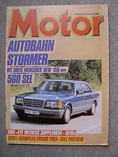 Motor (5 Oct 1985) BMW M635CSi , Mercedes 560SEL, Citroen CX, BX19, European GP