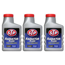 3 x STP RADIATOR FLUSH 300ml CLEANS UNBLOCKS CAR RAD COOLING SYSTEM RUST SLUDGE