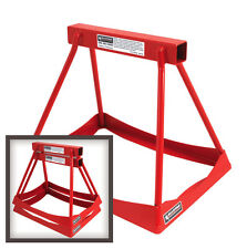 """JACK STANDS SET OF 2 STEEL STACK 14"""" TALL POWDER COATED RED DRAG JOES QUICKCAR"""