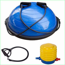 BALANCE TRAINER BALL BOARD BOSU STYLE  FREE PUMP WITH HANDLES