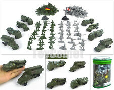 210 pcs Military Missile Armored Truck Vehicle Toy Soldier Army Men 1:72 Figures
