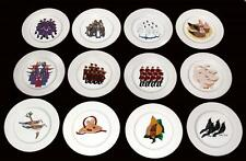 12 AMERICAN ATELIER 12 Twelve DAYS OF CHRISTMAS Colorful Dessert Plates NWOT