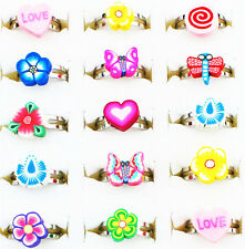 Wholesale Lot 30pcs Silver Plated Mixed Design Adjustable Cute Children's Rings