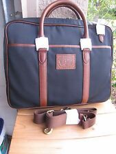 NWT - Ralph Lauren NAVY BLUE  Commuter  Briefcase/Messenger Bag  CANVA/  LEATHER