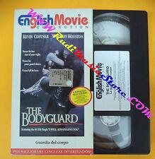 film VHS THE BODYGUARD Guardia del corpo ENGLISH MOVIE Houston (F104) no dvd