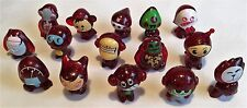 GOGO'S CRAZY BONES – DARK RED GLITTER - 15 X FIGURES