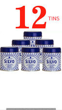 12 x Silvo Wadding  Metal Silver Polish Tarnish Guard 75g Tin