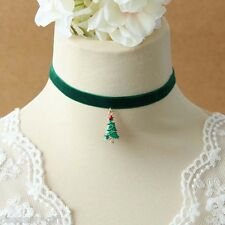 GIFT Fashion Christmas Accessories Gift Retro Christmas Tree Pendant Necklace