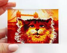 London Souvenir Ginger Cat & Tower Bridge Fridge or Office Magnet