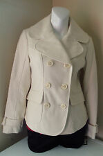 GUESS WOOL DOUBLE BREASTED COAT WINTER WHITE MEDIUM NWT