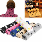 2016 Pet Small Large Warm Paw Print Dog Puppy Cat Pig Fleece Blanket Beds Mat