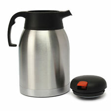 1.2L LITRE JUG THERMOS STAINLESS STEEL VACUUM FLASK HOT & COLD DRINK NEW