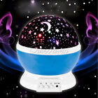 Rotating Sky Cosmos Moon Star LED Projector Nightlight Romantic Lamp for Kids