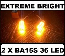 2 X BA15S 1156 LED Orange Amber Turn Blinker Indicator Light Bulbs