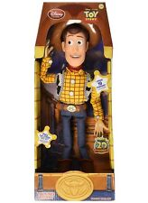 "Disney Toy Story 16"" Talking Woody Pull String Doll Figure English Phrases NIB"