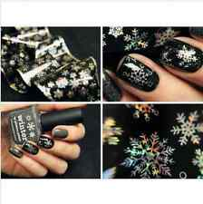 1Pc Nail Art Transfer Foils Sticker Christmas Snowflake Holographic Paper DIY