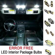 INTERIOR CEILING LED Bulbs Package KIT WHITE CANBUS FIT Audi A4 S4 B7 2005 2008
