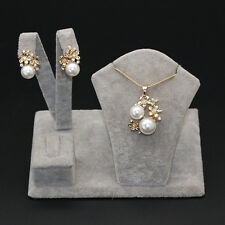 Flower Jewelry Set Gold Plated Pearl Crystal Necklace Pendant Necklace Wedding