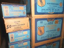 NEW EAGLE Buss NON-60 Amp Fuses 250 Volt Lot of 10 One-Time WOW Fast Ship NOS