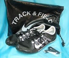 Nike Zoom Rival Style 616312-010 Track Spike Running Shoe Size 10.5 Black White