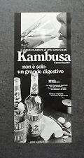 K366- Advertising Pubblicità -1975- DIGESTIVO KAMBUSA , L'AMARICANTE