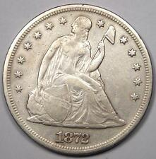 1872 Seated Liberty Silver Dollar $1 - XF Details (EF) - Rare Early Type Coin!