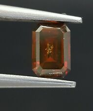 Red Emerald Cut Diamond Loose 0.51 Carat For Ring Real Image Best Price