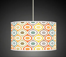 30cm Orange Mustard Grey Geometric Handmade lampshade pendant light Shade 560