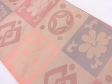 HIGH CLASS ANTIQUE FUKURO OBI FOR JAPANESE KIMONO, OR CRAFT MATERIAL, BEAUTIFUL!