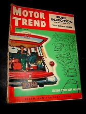 MOTOR TREND MAGAZINE SEPTEMBER 1954 ISSUE Best Wagon Test Kaiser Fuel Injection!