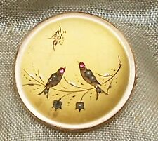 ANTIQUE ViCTORIAN ERA  LOW GOLD SEED PEARL&GARNET BIRDS AND BUTTERFLY BROOCH