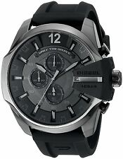 Diesel Men's DZ4378 Mega Chief Black Silicone Chronograph Black Dial Watch