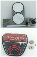 Odyssey White Ice 2 Ball Blade Putter + Cover + Weights + Mint Super Stroke Grip