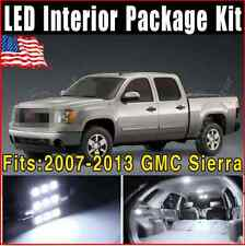15 Pieces Xenon White LED Lights Interior Package Kit For 2007-2014 GMC Sierra