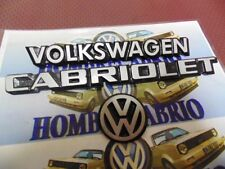79 93 VW MK1 RABBIT CONVERTIBLE GOLF CABRIOLET SILVER REAR TRUNK EMBLEM SET 3
